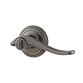 Avalon Door Levers, Rustic Pewter 740AVL 502 SMT | Kwikset Door Hardware