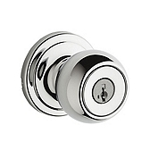 Circa Keyed Entry Door Knobs, Polished Chrome 740CA 26 SMT | Kwikset Door Hardware
