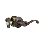 Commonwealth Keyed Entry Door Levers, Rustic Pewter 740CHL 502 SMT | Kwikset Door Hardware