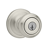 Cameron Keyed Entry Door Knobs, Satin Nickel 740CN 15 SMT | Kwikset Door Hardware