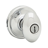 Laurel Keyed Entry Door Knobs, Polished Chrome 740L 26 SMT | Kwikset Door Hardware