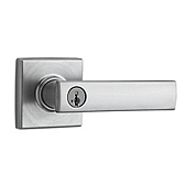 Vedani Keyed Entry Door Levers, Satin Chrome 740VDL 26D SMT | Kwikset Door Hardware