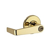 Kingston Keyed Entry Light Commercial, Polished Brass 756KNL 3 SMT | Kwikset Door Hardware