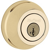 780/785 Deadbolt , Polished Brass 785 3 SMT | Kwikset Door Hardware