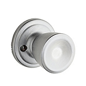 Abbey Inactive/Dummy Door Knobs, Satin Chrome 788A 26D | Kwikset Door Hardware