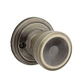 Abbey Inactive/Dummy Door Knobs, Antique Brass 788A 5 | Kwikset Door Hardware