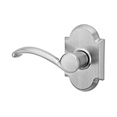 Austin Inactive/Dummy Door Levers, Satin Nickel 788AUL LH 15 | Kwikset Door Hardware