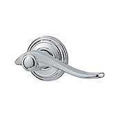 Avalon Door Levers, Polished Chrome 788AVL RH 26 | Kwikset Door Hardware