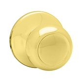 Copa Inactive/Dummy Door Knobs, Polished Brass 788C 3 | Kwikset Door Hardware