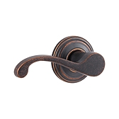 Commonwealth Inactive/Dummy Door Levers, Rustic Bronze 788CHL LH 501 | Kwikset Door Hardware