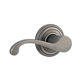 Commonwealth Inactive/Dummy Door Levers, Rustic Pewter 788CHL LH 502 | Kwikset Door Hardware