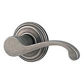 Commonwealth Door Levers, Rustic Pewter 788CHL RH 502 | Kwikset Door Hardware