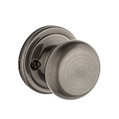 Hancock Inactive/Dummy Door Knobs, Antique Nickel 788H 15A | Kwikset Door Hardware