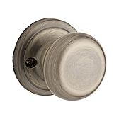 Hancock Inactive/Dummy Door Knobs, Antique Brass 788H 5 | Kwikset Door Hardware