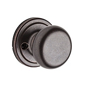 Hancock Inactive/Dummy Door Knobs, Rustic Bronze 788H 501 | Kwikset Door Hardware