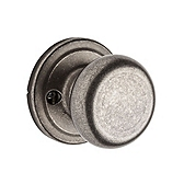 Hancock Inactive/Dummy Door Knobs, Rustic Pewter 788H 502 | Kwikset Door Hardware