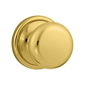 Hancock Inactive/Dummy Door Knobs, Lifetime Polished Brass 788H L03 | Kwikset Door Hardware