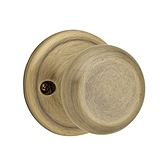 Juno Inactive/Dummy Door Knobs, Antique Brass 788J 5 | Kwikset Door Hardware