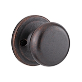 Juno Inactive/Dummy Door Knobs, Rustic Bronze 788J 501 | Kwikset Door Hardware
