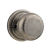 Juno Inactive/Dummy Door Knobs, Rustic Pewter 788J 502 | Kwikset Door Hardware
