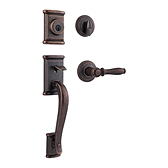 Ashfield Single Cylinder Handlesets, Rustic Bronze 800ADHXADL 501 SMT | Kwikset Door Hardware