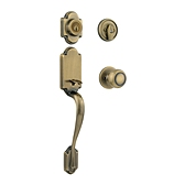 Arlington Handlesets, Antique Brass 800ANXC 5 SMT | Kwikset Door Hardware