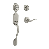 Arlington Single Cylinder Handlesets, Satin Nickel 800ANXTNL 15 SMT | Kwikset Door Hardware