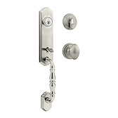 Amherst Single Cylinder Handlesets, Satin Nickel 800ATXL 15 SMT | Kwikset Door Hardware