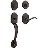Austin Single Cylinder Handlesets, Venetian Bronze 800AUHXAUL 11P SMT | Kwikset Door Hardware