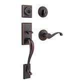 Hawthorne Handlesets, Rustic Bronze 800HEXCHL 501 SMT | Kwikset Door Hardware