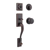 Hawthorne Handlesets, Rustic Bronze 800HEXJ 501 SMT | Kwikset Door Hardware