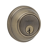 Key Control Deadbolt  , Antique Brass 816 5 SMT | Kwikset Door Hardware