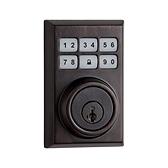 Contemporary SmartCode Deadbolt , Venetian Bronze 909CNT 11P SMT | Kwikset Door Hardware