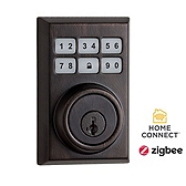 Contemporary SmartCode Deadbolt with Home Connect , Venetian Bronze 910CNT ZB 11P SMT | Kwikset Door Hardware