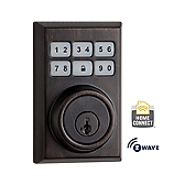 Contemporary SmartCode Deadbolt with Home Connect  , Venetian Bronze 910CNT ZW 11P SMT | Kwikset Door Hardware