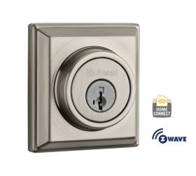 Square Signature Series Deadbolt - Satin Nickel