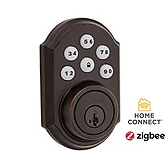 SmartCode Deadbolt with Home Connect  , Venetian Bronze 910TRL ZBC4 11P SMT | Kwikset Door Hardware