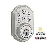 SmartCode Deadbolt with Home Connect  , Satin Nickel 910TRL ZBC4 15 SMT | Kwikset Door Hardware