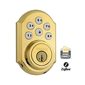SmartCode Deadbolt with Home Connect  , Lifetime Polished Brass 910TRL ZBC4 L03 SMT | Kwikset Door Hardware