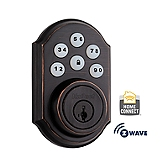 SmartCode Deadbolt with Home Connect  , Venetian Bronze 910TRL ZW 11P SMT | Kwikset Door Hardware