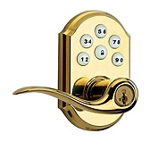 SmartCode Lever  , Lifetime Polished Brass 911 L03 SMT | Kwikset Door Hardware