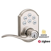 SmartCode Lever with Home Connect , Satin Nickel 912TNL TRL ZBC4 15 SMT | Kwikset Door Hardware