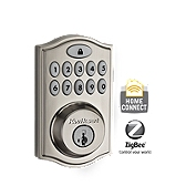 SmartCode Deadbolt with Home Connect , Satin Nickel 914TRL ZB 15 UL | Kwikset Door Hardware