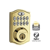 SmartCode Deadbolt with Home Connect  , Lifetime Polished Brass 914TRL ZB L03 UL | Kwikset Door Hardware