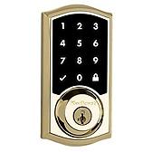SmartCode Deadbolt , Lifetime Polished Brass 915TRL L03 UL | Kwikset Door Hardware