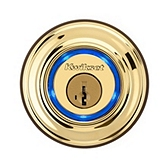 Kevo  , Lifetime Polished Brass 925 KEVO DB L03 | Kwikset Door Hardware