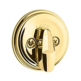 980/985 Deadbolt  , Polished Brass 980 3 SMT | Kwikset Door Hardware