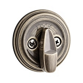 980/985 Deadbolt  , Antique Brass 980 5 SMT | Kwikset Door Hardware