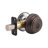 980/985 Deadbolt , Rustic Bronze 980 501 SMT | Kwikset Door Hardware