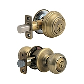 Copa Combo Pack , Antique Brass 991C 5 SMT | Kwikset Door Hardware